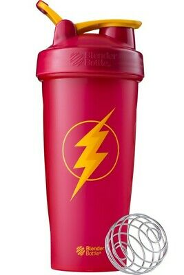 Blender Bottle Special Edition DC Comics FLASH 28 oz Shaker with Loop Top