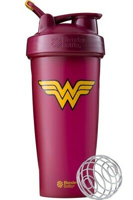 Blender Bottle Special Edition DC Comics Wonder Woman 28 oz Shaker with loop