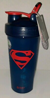 Blender Bottle DC Comics Super-Man 28 oz. Classic Shaker with Loop Top