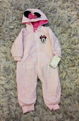 Brand New Girls Minnie Mouse Snowsuit Size 12-18 Months