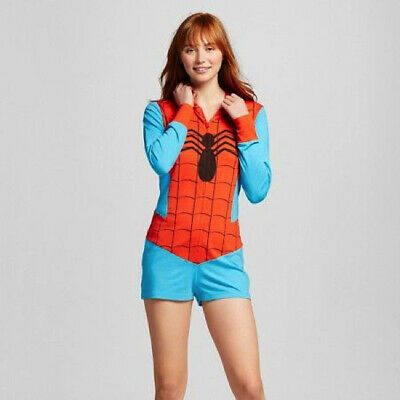 Marvel Spider-man Hooded Romper One piece for Women Size X-Large