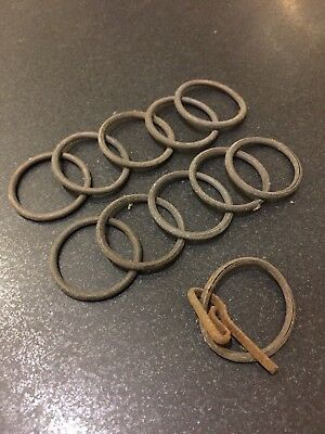 ANTIQUE set of 11 curtain rings - RECLAIMED
