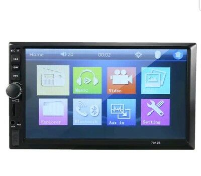 RS17# 7018G 7'' HD Car Touch Screen Bluetooth MP5 FM Radio Player with Rear View