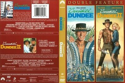 CROCODILE DUNDEE ( 1 and 2) DOUBLE FEATURE (DVD, 2013) FREE SHIPPING