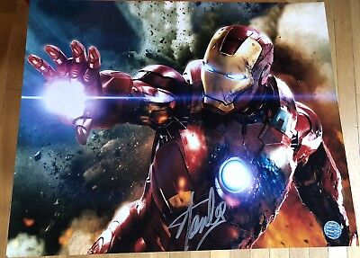 Stan Lee Autographed Iron Man Photo Obtained in Person! Large Signature!