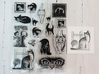 Clear Stamp Set -- Cats