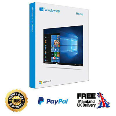 Microsoft Windows 10 Home - Genuine Product License Key Product Code (32/64bit)