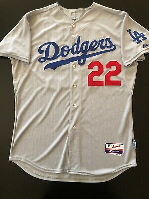 buy online 2532b 0b745 LOS ANGELES DODGERS Clayton Kershaw Jersey Majestic Authentic Road Size 48