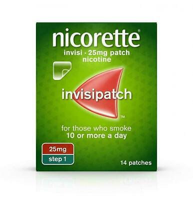 NICORETTE INVISI PATCH 25 mg 7 PATCHES STEP 1 NEW RETAIL PACK