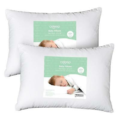 "[2-Pack] Celeep Baby Toddler Pillow Set - 13"" x 18"" Toddler Bedding Small Pillow"
