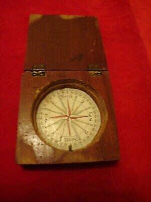 Vintage Old Compass Wood Box