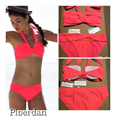 80bdc691726 SEAFOLLY 2 PC Bikini Solid Blue Ombre Swimsuit US 4 AUS UK 8 CAN 6 ...