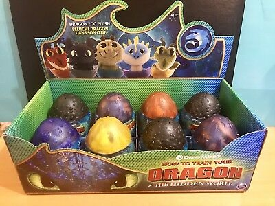 Dreamworks HOW to TRAIN Your Dragon THE HIDDEN WORLD Toothless Plush Egg Set 8