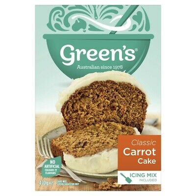 Green's Traditional Carrot with Icing Cake Mix 470g