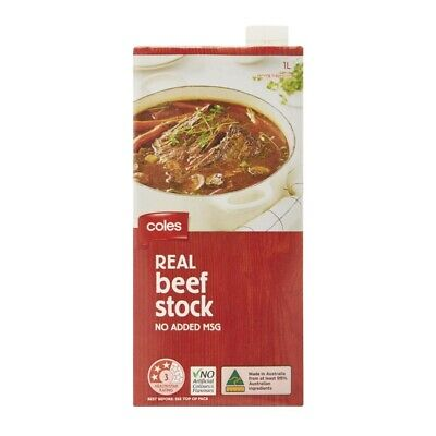 Coles Real Beef Stock 1L