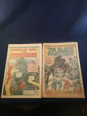 Fantastic Four #45 And 52 Coverless And Incomlete Loose Pages 45 Story Complete
