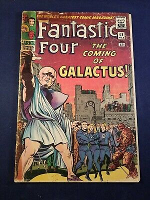 FANTASTIC FOUR #48 Vol 1 1ST SILVER SURFER MISSING 3 Ad PAGES WITH MARRIED COVER