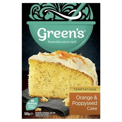 Green's Orange Poppyseed Cake Mix 580g