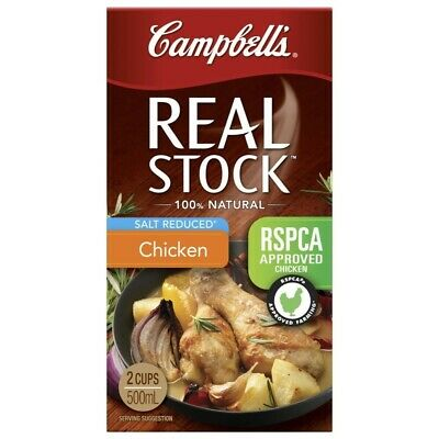 Campbell's Real Salt Reduced  Chicken  Stock 500mL