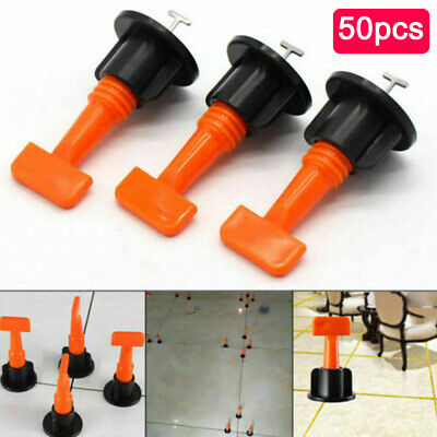 Hot 50pcs Reusable Tile Leveling Positioning System Leveler T-lock Floor Tool