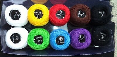 10 balls of no.8 crochet cotton