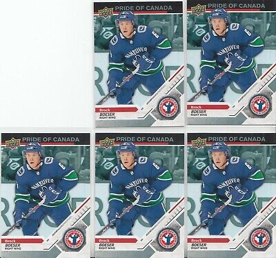 "2019 Upper Deck National Hockey Card Day (Canada) CAN-6 Brock Boeser ""5 CARD LOT"
