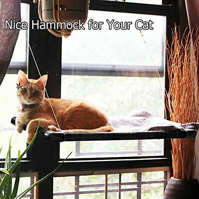 Pet Cat Window Mounted Perch Seat Bed Kitten Suction Cup Breathable Hammock Brim