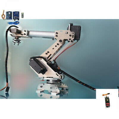 6 Axis Robotic Mechanical Arm Gripper Kit with Servo For Arduino