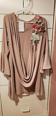 Women's Pakistani Beige Shirt