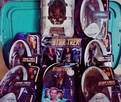 Star Trek  - KLINGON LOT OF 9 - with rare and exclusives   -  Free S&H