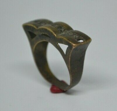 LOW OUTBID !! extremely ancient rare old ring bronze legionary roman ring bronze