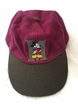 45c7e25320c MICKEY MOUSE Disney Unlimited Vtg 90s Hat Baseball Cap Red Brown Felt SIZE  OSFA