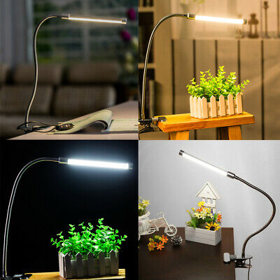 DC5V 10W 36LED Clamp Clip Desk Lamp USB 3 Colors Changing 10 for Study Room A7U7