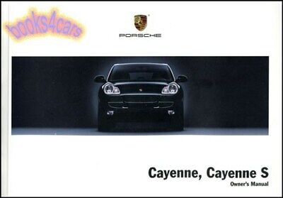 Cayenne 2006 Porsche Owners Manual BUCH S