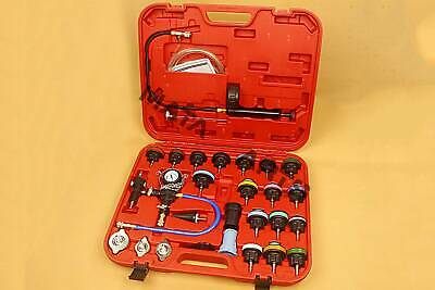 28pcs Water Pump Test Kits Vacuum Type Cooling System Radiator Pressure Tester