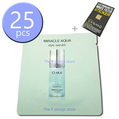 OHUI Miracle Aqua Eye Serum 25ml (1ml x 25pcs) KOREA Cosmetic + 2 gifts