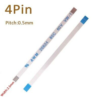 Pitch 0.5mm 4-Pin FFC/FPC Flexible Flat Cable 80C 60V VW-1 W:2.5mm L:50mm-3000mm