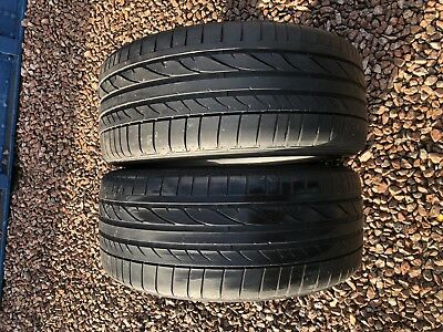 Part Worn Tyres 2x 225/40/18 Summer  Bridgestone Potenza RE 050