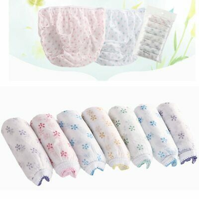 7Pcs/Set Cotton Briefs  Disposable Travel Paper Underpants BS88