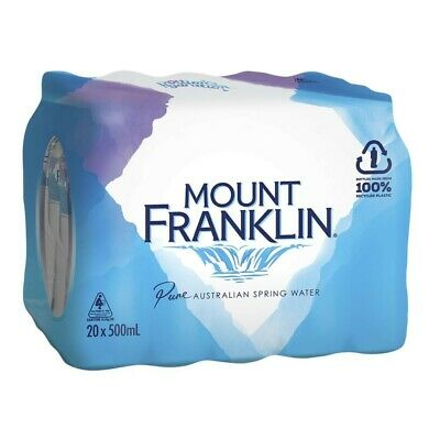Mount Franklin Pure Spring Water 500mL 20 Pack