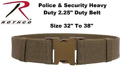"""Coyote Size 32"""" To 38"""" Police Security Military Tactical Duty Belt 10571 Rothco"""