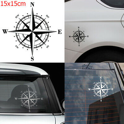 Accessories Door Vinyl Art  Design Car Sticker Window NSWE Compass Auto Decal