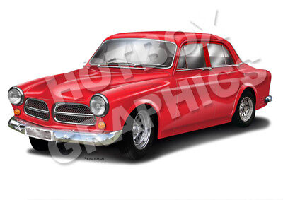 Volvo Amazon Print - Personalised Illustration Of Your Car