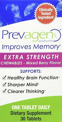 Prevagen Extra Strength - 30 CT Capsules - Chewable Mixed Berry Flavor! New!