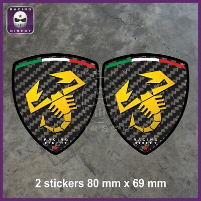 070 Sticker ABARTH CARBONE fiat decal aufkleber adesivo 500 Punto Tipo Spider