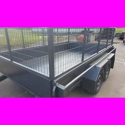 10x6 tandem trailer box trailer with cage australian made heavy duty 2000kgs