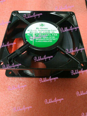 1pc Bi-sonic 4C-230HB 120*120*38mm 230V metal frame cooling fan #M2166 QL