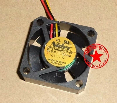 1PCS Nidec DF310R105LC-02 fan 30*30*10mm 5V 0.10A 3pin #M326 QL