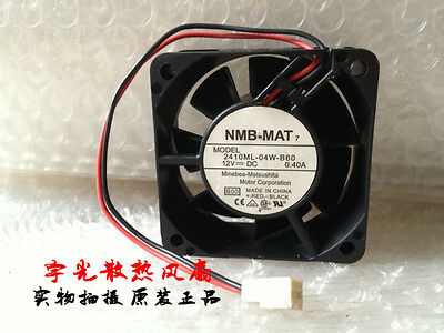 NMB 2410ML-04W-B60 fan 12V 0.40A 2pin 60*60*25MM #M2991 QL