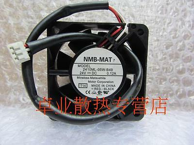 1pc NMB 2410ML-05W-B49 fan 24V 0.12A 3pin 6025 #M3718 QL